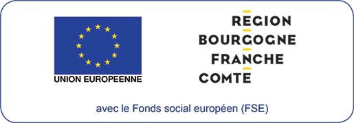 logo du Conseil régional Bourgogne Franche Comté et logo du FSE